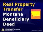real property transfer montana beneficiary deed