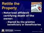 retitle the property