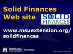 solid finances web site