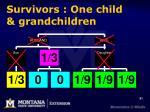 survivors one child grandchildren
