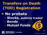 transfers on death tod registration
