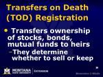 transfers on death tod registration1