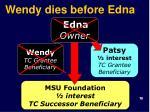 wendy dies before edna1