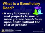 what is a beneficiary deed