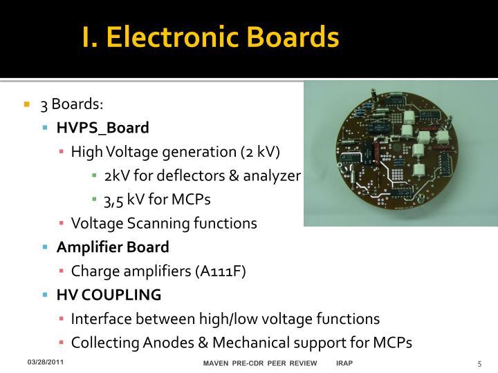 I. Electronic Boards