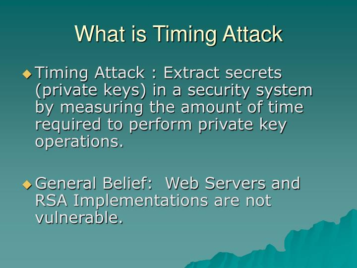 What is timing attack