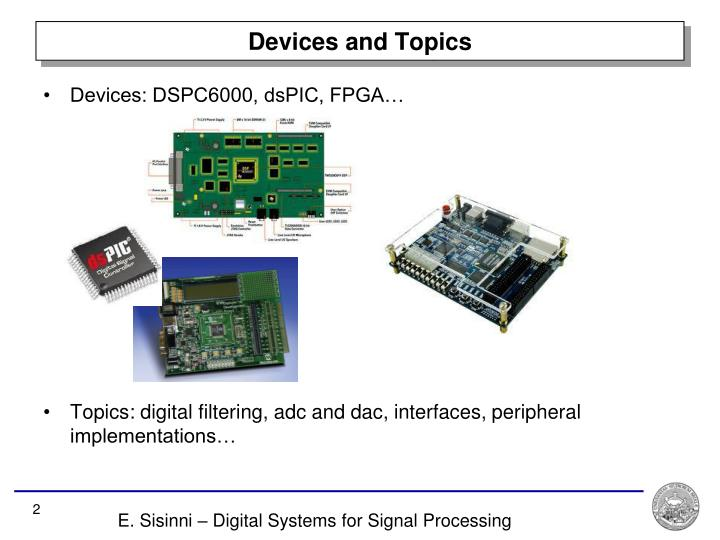 Devices and topics