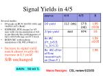 signal yields in 4 5