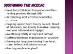 sustaining the mcecac