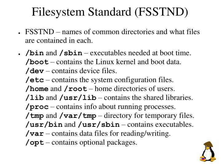 Filesystem Standard (FSSTND)