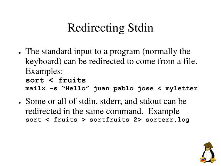Redirecting Stdin