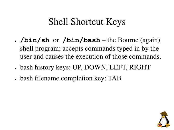 Shell Shortcut Keys