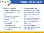 capacity and capability