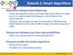 debunk 3 smart algorithms