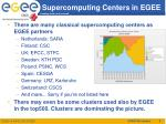 supercomputing centers in egee