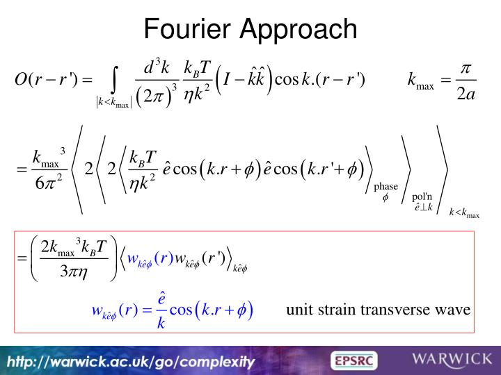 Fourier Approach