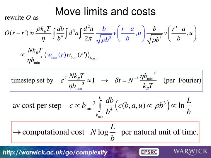 Move limits and costs