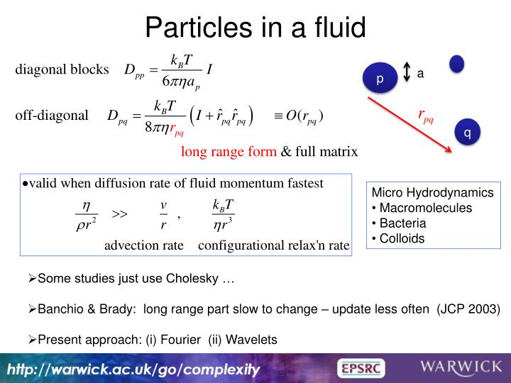 Particles in a fluid