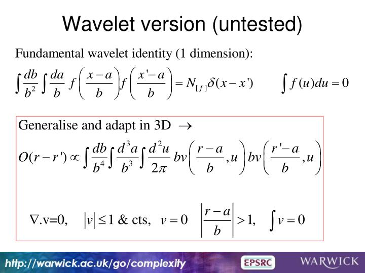 Wavelet version (untested)