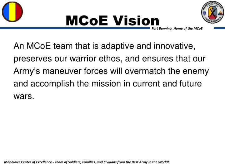 Mcoe vision