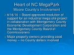 heart of nc megapark moore county s involvement