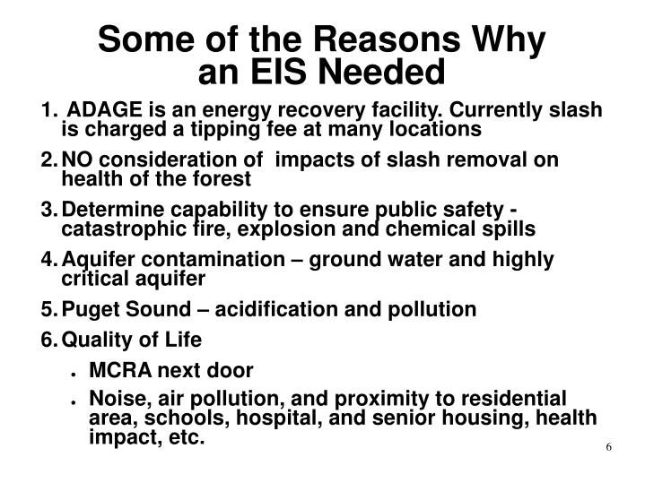 Some of the Reasons Why