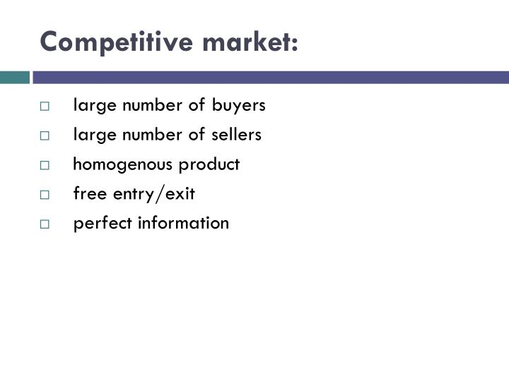 Competitive market: