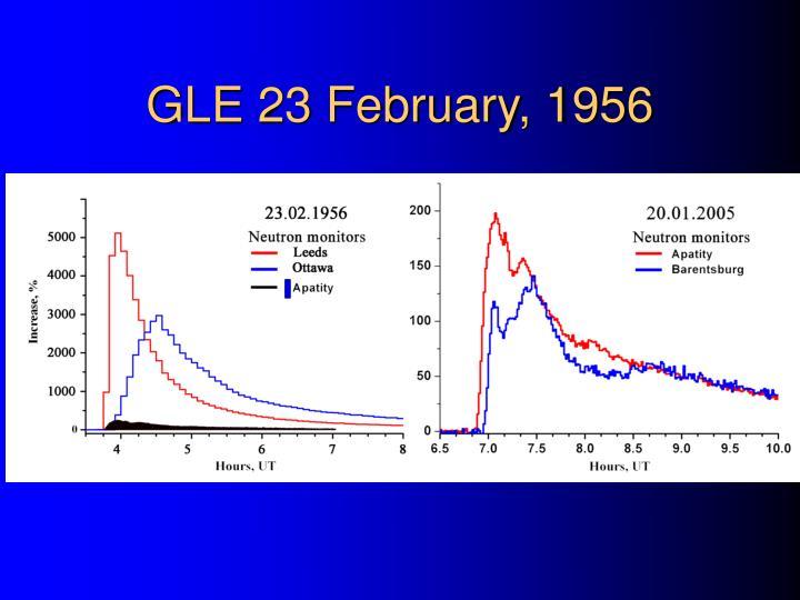 GLE 23 February, 1956