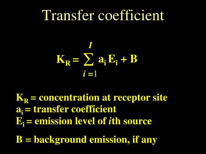 Transfer coefficient