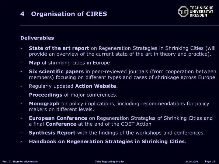 4 Organisation of CIRES