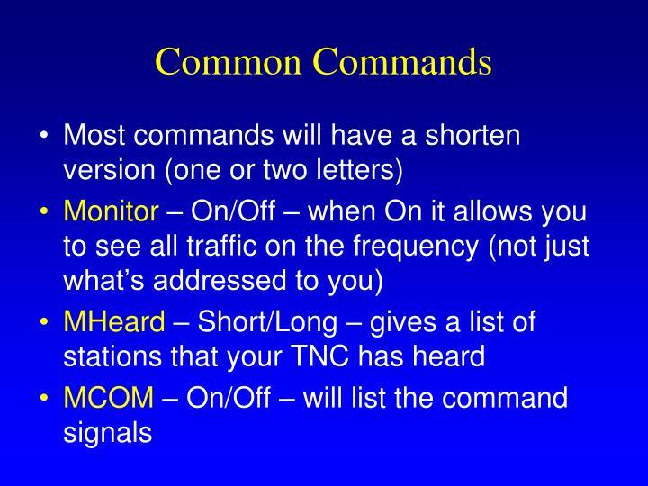 Common Commands