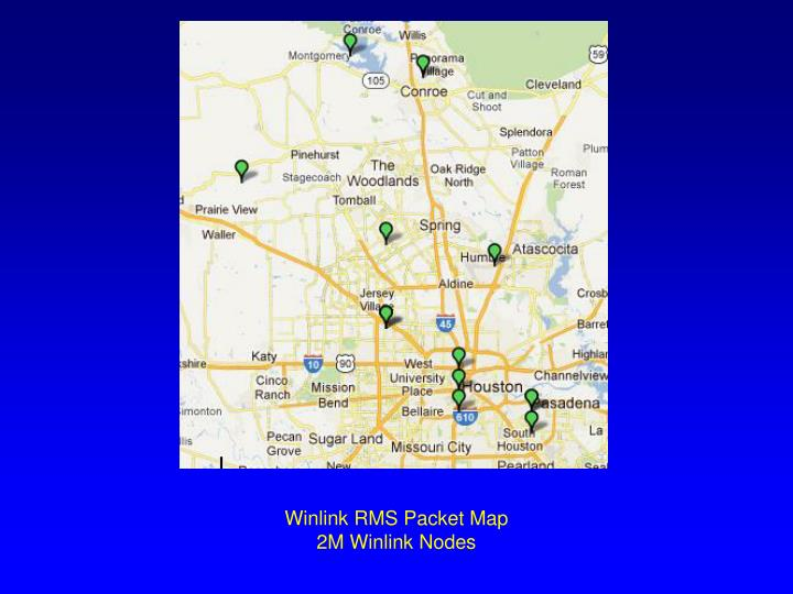 Winlink RMS Packet Map