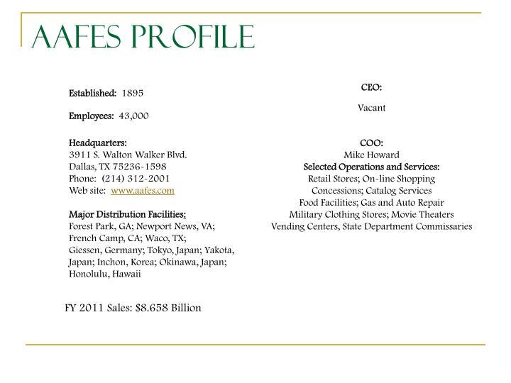 AAFES Profile