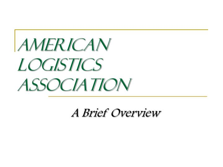 American logistics association
