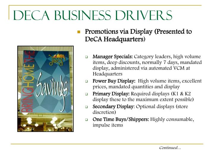 DeCA Business Drivers