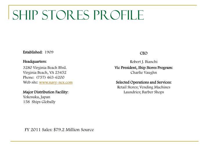 Ship Stores Profile