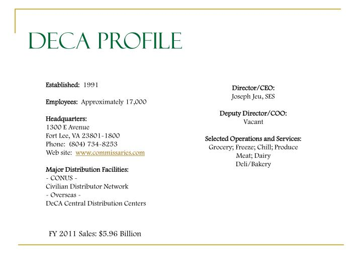DeCA Profile
