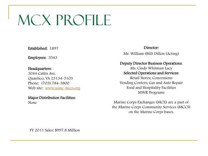 MCX Profile