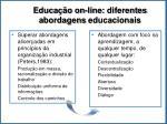 educa o on line diferentes abordagens educacionais