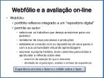 webf lio e a avalia o on line