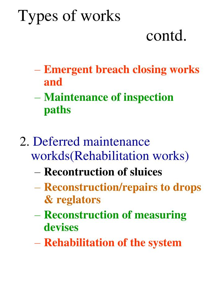 Types of works