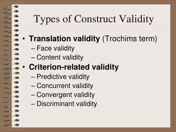 Types of Construct Validity