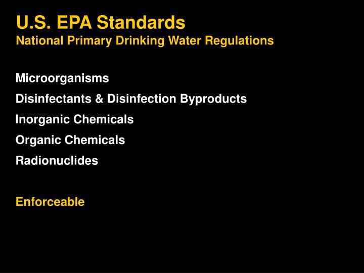 U.S. EPA Standards