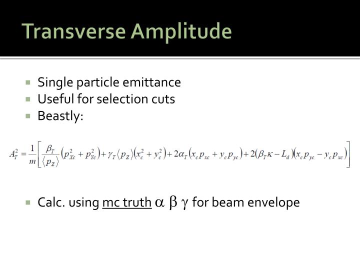 Transverse Amplitude