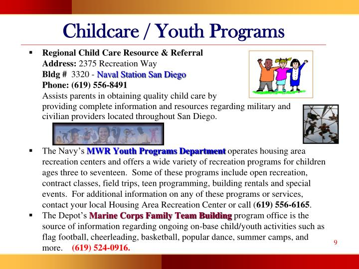 Childcare / Youth Programs
