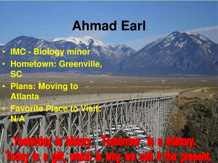 Ahmad Earl