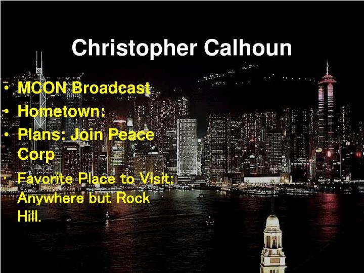 Christopher calhoun