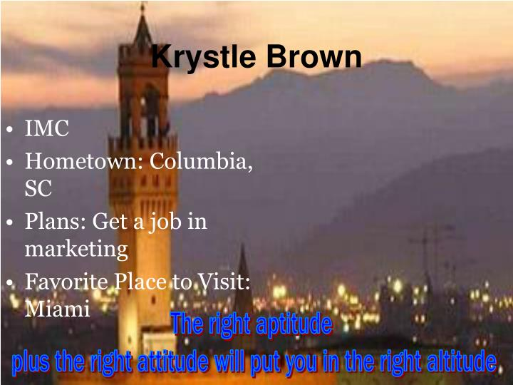 Krystle Brown