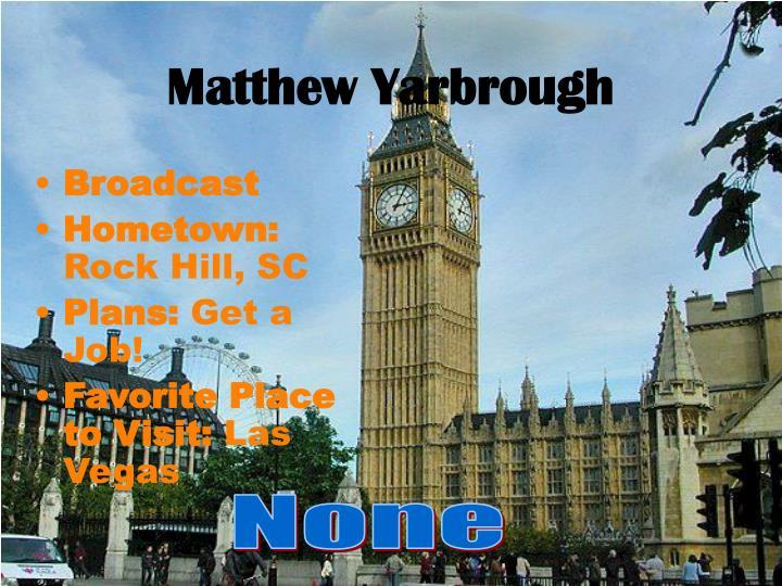 Matthew Yarbrough