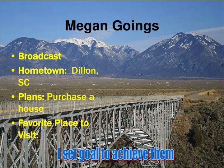 Megan Goings